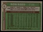 1976 Topps #58  Ron Reed  Back Thumbnail