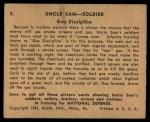 1941 Gum Inc Uncle Sam #5   Gas Discipline Back Thumbnail