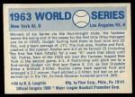 1970 Fleer World Series #60   -  Moose Skowron 1963 Dodgers vs. Yankees   Back Thumbnail