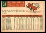 1959 Topps #33  Ed Fitzgerald  Back Thumbnail