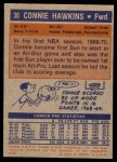 1972 Topps #30  Connie Hawkins   Back Thumbnail