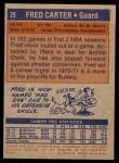 1972 Topps #29  Fred Carter   Back Thumbnail