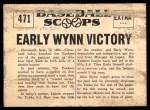 1961 Nu-Card Scoops #471   -   Early Wynn  Early Wynn Victory Crushes Yanks Back Thumbnail