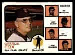 1973 Topps #252 ORG  -  Charlie Fox / Joe Amalfitano / Andy Gilbert / Don McMahon / John McNamara Giants Leaders Front Thumbnail