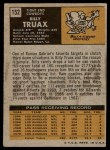 1971 Topps #152  Billy Truax  Back Thumbnail