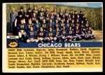 1956 Topps #119   Bears Team Front Thumbnail
