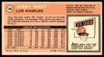 1970 Topps #160  Jerry West   Back Thumbnail