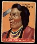 1933 Goudey Indian Gum #108  Many Shots   Front Thumbnail
