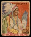 1933 Goudey Indian Gum #48  Red Tomahawk   Front Thumbnail