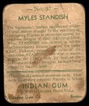 1933 Goudey Indian Gum #57  Myles Standish   Back Thumbnail
