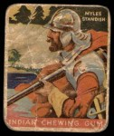 1933 Goudey Indian Gum #57  Myles Standish   Front Thumbnail