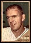 1962 Topps #7  Frank Thomas  Front Thumbnail
