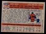1957 Topps #185  Johnny Kucks  Back Thumbnail