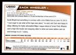 2013 Topps Update #50  Zack Wheeler  Back Thumbnail