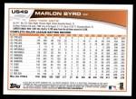 2013 Topps Update #49  Marlon Byrd  Back Thumbnail