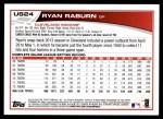 2013 Topps Update #24  Ryan Raburn  Back Thumbnail