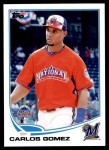 2013 Topps Update #20   -  Carlos Gomez All-Star Front Thumbnail