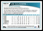 2013 Topps Update #14  Joe Saunders  Back Thumbnail