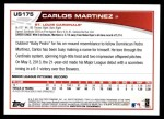 2013 Topps Update #175  Carlos Martinez  Back Thumbnail