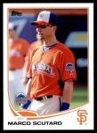 2013 Topps Update #157   -  Marco Scutaro All-Star Front Thumbnail