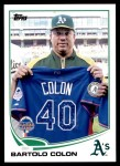2013 Topps Update #128   -  Bartolo Colon All-Star Front Thumbnail