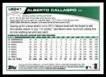 2013 Topps Update #241  Alberto Callaspo  Back Thumbnail