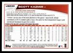 2013 Topps Update #230  Scott Kazmir  Back Thumbnail