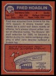 1973 Topps #259  Fred Hoaglin  Back Thumbnail