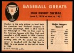 1961 Fleer #13  Jack Chesbro  Back Thumbnail