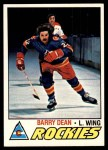 1977 Topps #183  Barry Dean  Front Thumbnail