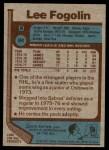 1977 Topps #94  Lee Fogolin  Back Thumbnail