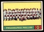 1961 Topps #491   Phillies Team Front Thumbnail