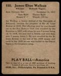 1939 Play Ball #150  Jim Walkup  Back Thumbnail