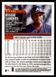 2000 Topps Traded #110 T Reggie Sanders  Back Thumbnail