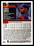 2000 Topps Traded #85 T Corey Smith  Back Thumbnail