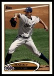 2012 Topps Update #51  Manny Parra  Front Thumbnail