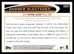 2012 Topps Update #87  Andrew McCutchen  Back Thumbnail