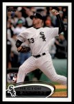 2012 Topps Update #98  Hector Santiago  Front Thumbnail