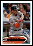 2012 Topps Update #129  Giancarlo Stanton  Front Thumbnail