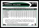 2012 Topps Update #132  Tommy Milone  Back Thumbnail