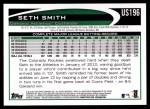2012 Topps Update #196  Seth Smith  Back Thumbnail