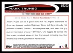 2012 Topps Update #202  Mark Trumbo  Back Thumbnail