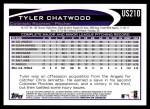 2012 Topps Update #210  Tyler Chatwood  Back Thumbnail