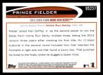 2012 Topps Update #237  Prince Fielder  Back Thumbnail