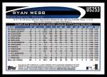2012 Topps Update #253  Ryan Webb  Back Thumbnail