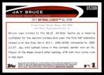 2012 Topps Update #308  Jay Bruce  Back Thumbnail