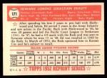 1952 Topps REPRINT #171  Ed Erautt  Back Thumbnail