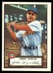 1952 Topps REPRINT #13  Johnny Wyrostek  Front Thumbnail