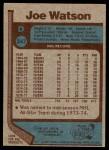 1977 Topps #247  Joe Watson  Back Thumbnail