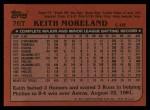 1982 Topps Traded #76 T Keith Moreland  Back Thumbnail